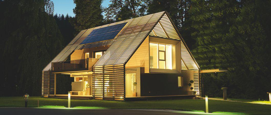 Дом с положительным энергобалансом с использованием плит ОСП 4 ТОП и плит ДХФ