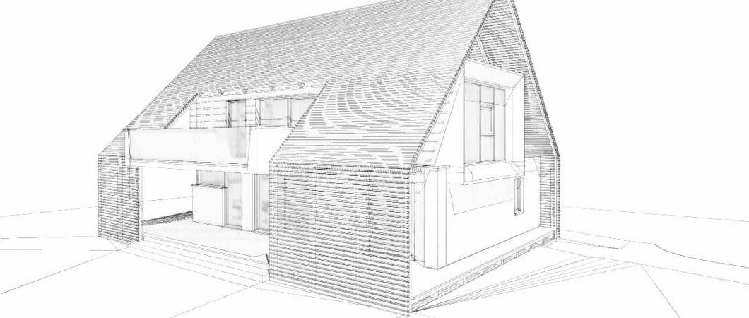 Эскиз проекта энергосберегающего дома Айзенштрассе