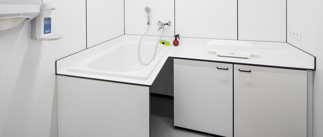 Компакт-плиты EGGER хорошо подходят для помещений с повышенной влажностью.