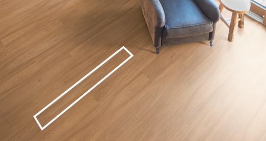 Klassische Fußbodendielen sind für jeden Raum geeignet.