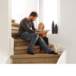 Cladding stairs with laminate