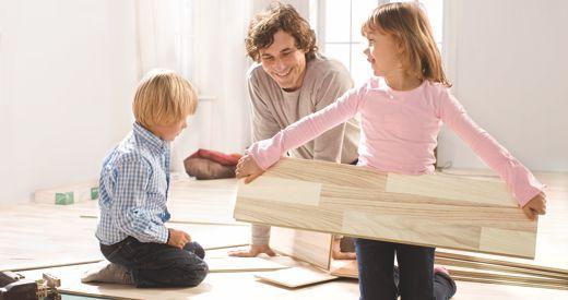 该款地板可以自己铺设,简单、快捷
