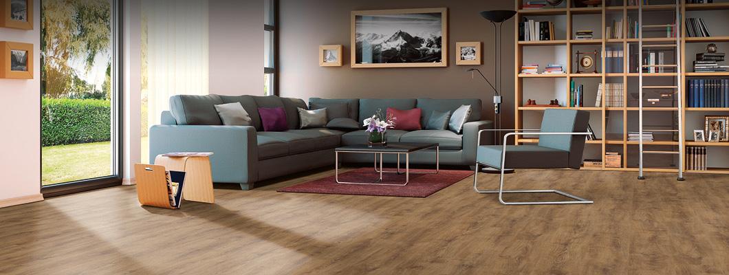 Un salón con suelo laminado combina con todos los diseños y estilos!