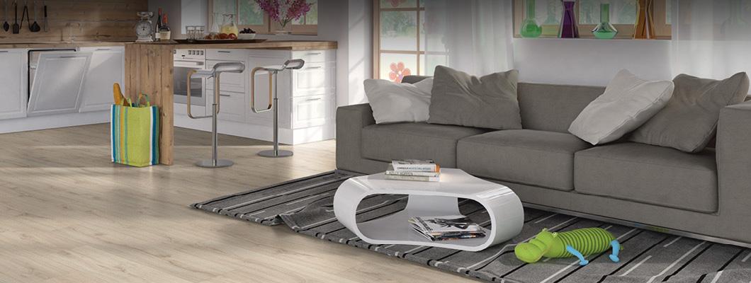 Opte por un salón con suelo Design con el efecto SelfRepair!