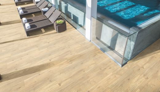 Safe flooring without the risk of slipping