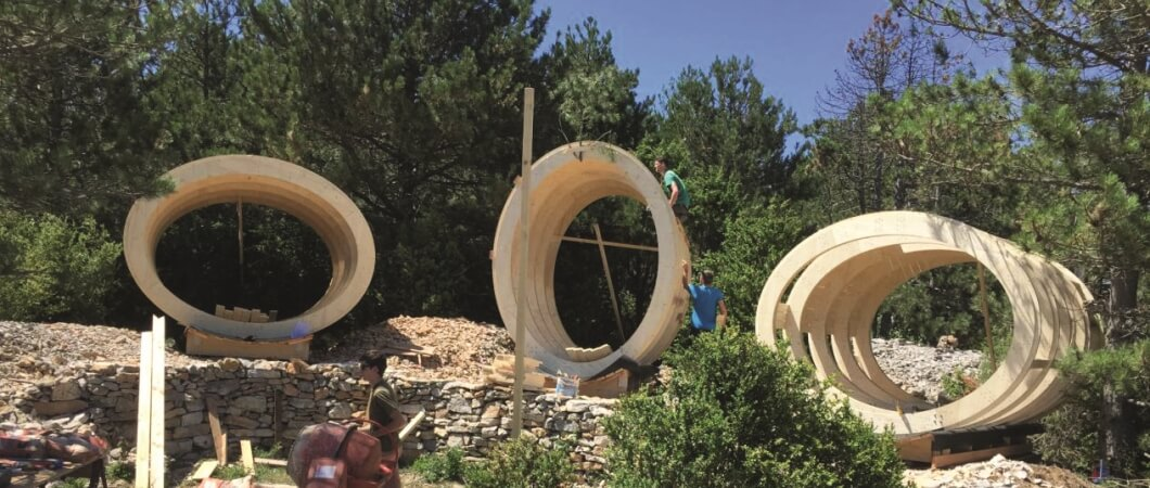 The main structure of the barrels is completed after four days of hard work.