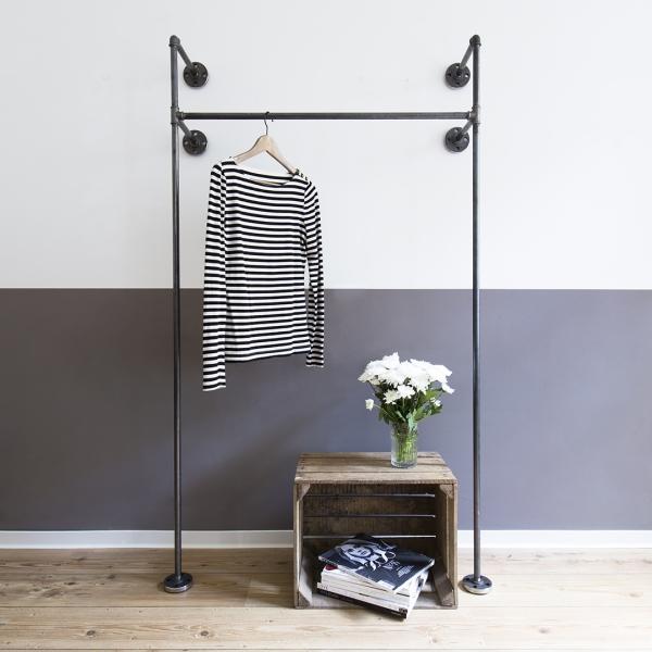 A clothing rack