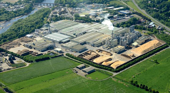 EGGER Hexham plant aerial shot