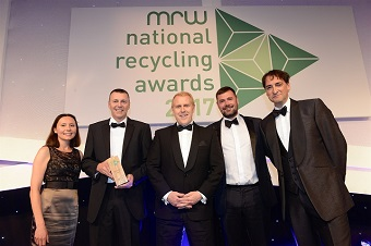 Customer-focused approach leads to win at MRW National Recycling Awards