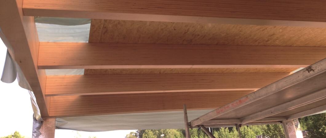 Для потолочной конструкции были использованы плиты EGGER OСП 4 TOП.
