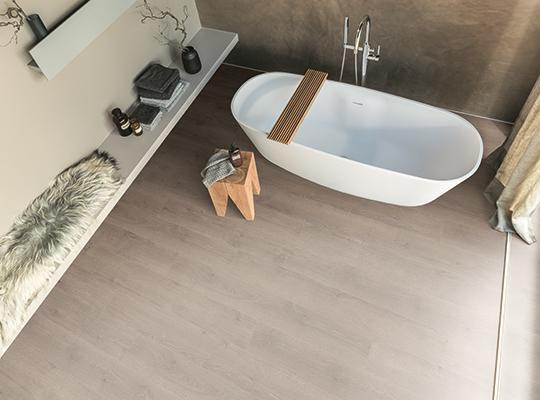 Moisture-resistant Aqua+ flooring