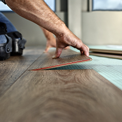 Watch explanatory videos for installing flooring