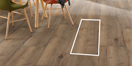 With large flooring boards the flooring installation goes twice as fast.