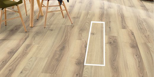 Classic flooring boards are suitable for spaces of any size.