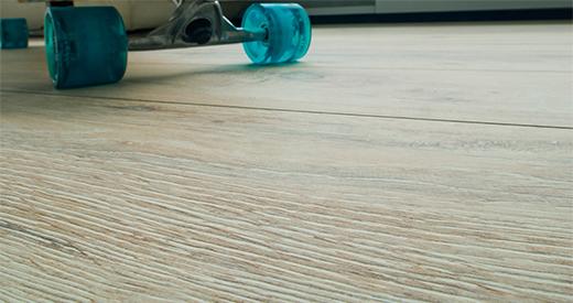 The Deepskin surface makes the flooring look striking.