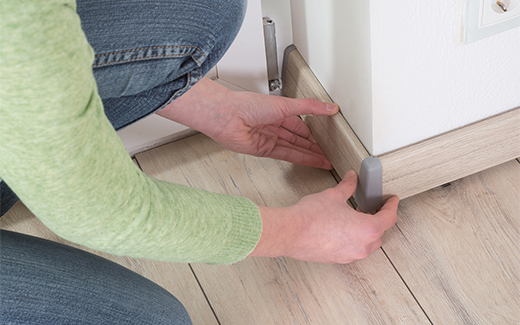 Skirting boards make the flooring complete