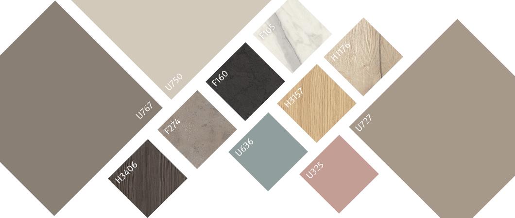 Un coloris varié aux combinaisons multiples