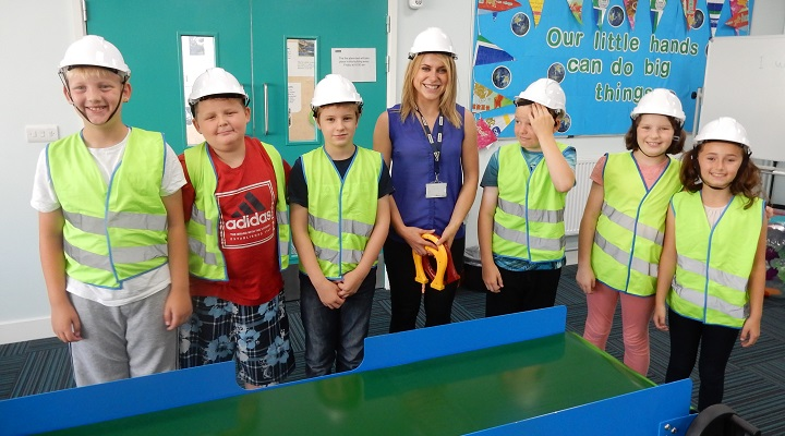 Jade Wilkes Education Officer with children from Wakefield district schools who were part of the Choice Programme