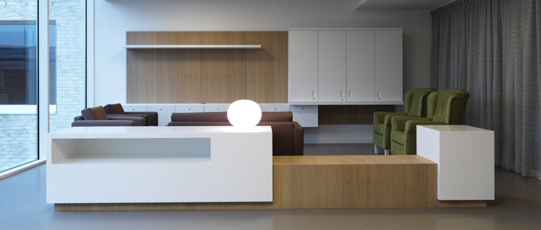Seniors residence or boutique hotel? The material mix provides an elegant look.