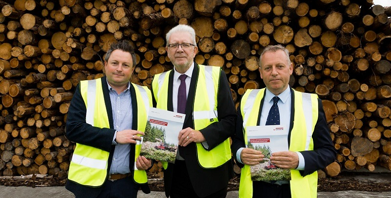 Left to right: Heiko Lichtblau, Michael Russell MSP and John Paterson