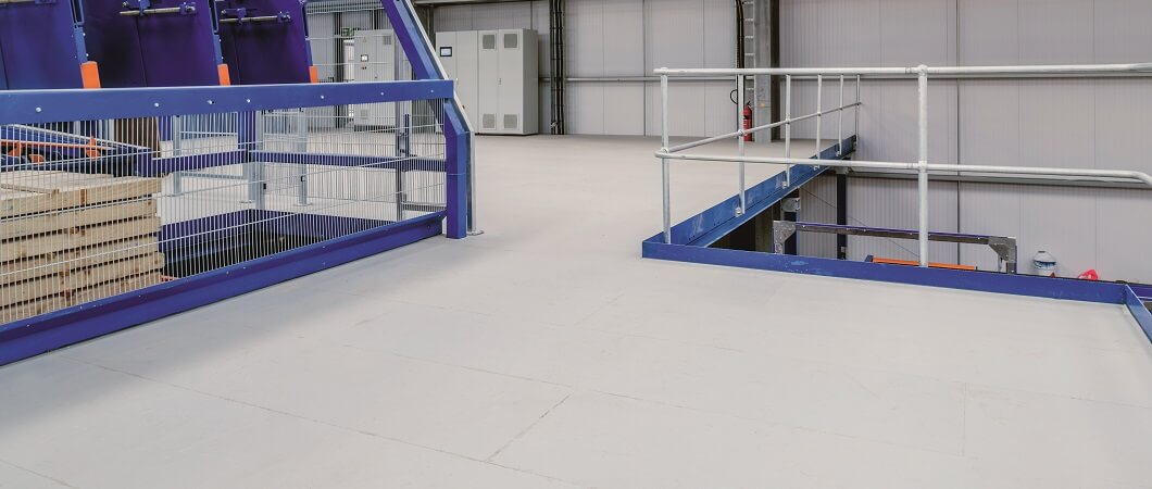 EGGER Protect increases health and safety on-site with a unique anti-slip surface. © EGGER