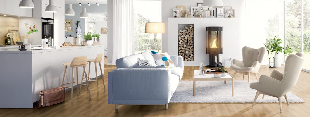 Facile à poser: Posez le revêtement de sol de votre cuisine ou salon vous-même avec la collection EGGER HOME!