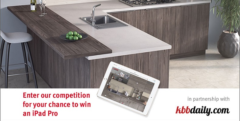Design a dream kitchen, bedroom or bathroom and win the latest iPad Pro