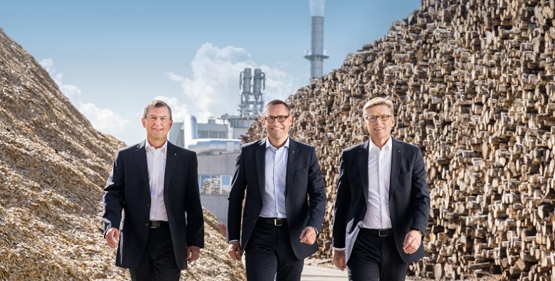 The EGGER Group Management with Walter Schiegl, Thomas Leissing and Ulrich Bühler (from left) reported a positive business year and big plans for the future.