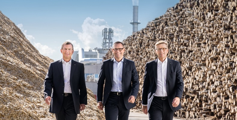 EGGER Group Management - L to R: Walter Schiegl, Ulrich Bühler and Thomas Leissing.