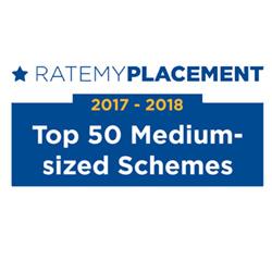 Ratemy Placement 2017 -2018 Top 50 Medium-sized Schemes