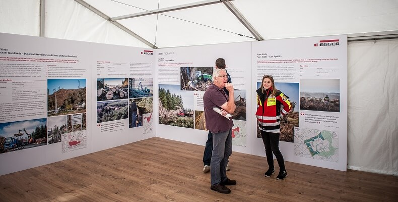 Information panels in the Forestry marquee