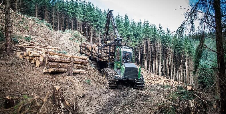 Harvesting on steep ground