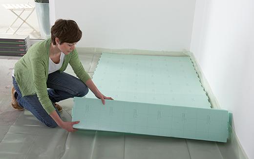 Za polaganje podov potrebujete primerno podložno peno