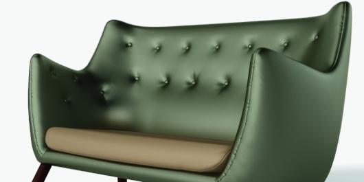 Metallics everywhere: sofa