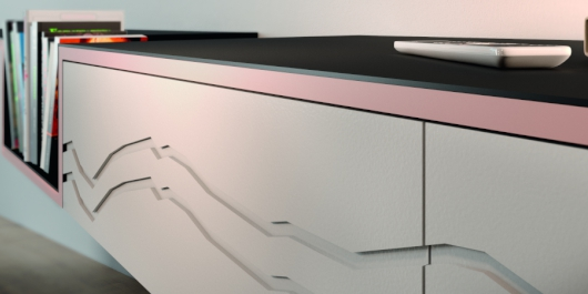 Playing with accents: Egger edging F8981 Doppia Black-Copper