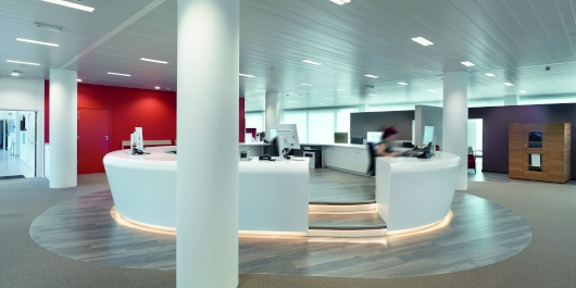 Application possibilities of Egger laminates on curved surfaces ©Lumecore/Toon Grobet