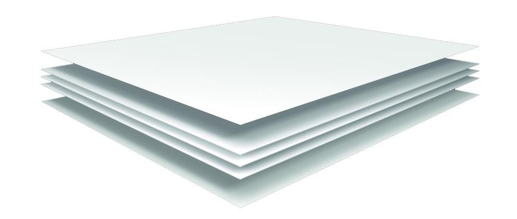 W1001 white coloured core laminate structure