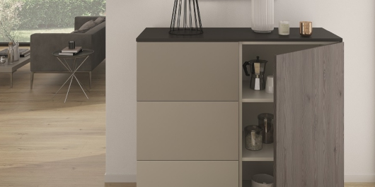 Combining gentle and rough: PerfectSense Matt decors and Feelwood H3406 ST38