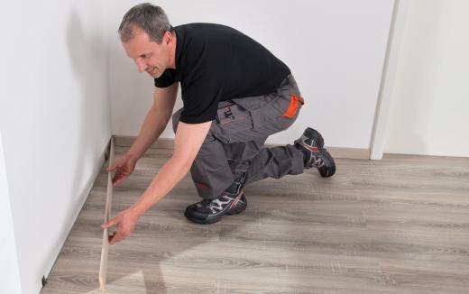 Installation of skirtings boards