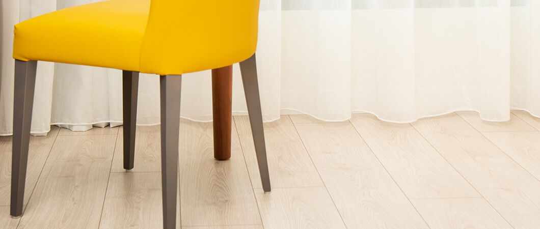 The wear-resistant and moisture-resistant Aqua+ Laminate Flooring.