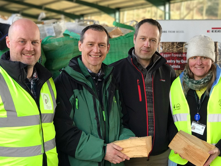 Andrew Kitching of Rural Development Initiatives, Richard Pow of the Forestry Commission, Dave Robson of EGGER Forest Management and Kath Marshall-Iven