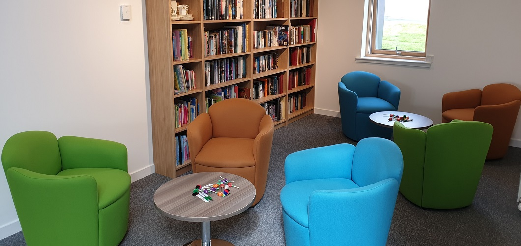 One of the completed and fully furnished rooms at the community hub. © Ochiltree Community Centre
