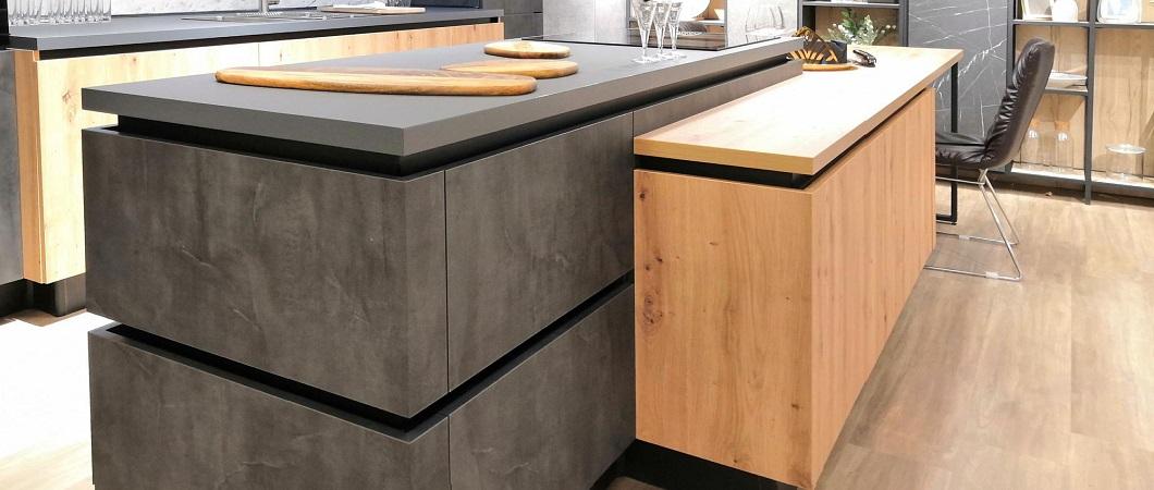 Кухня Silver Slate от мебельной фабрики CUCINA