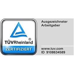 Ausgezeichneter Arbeitgeber TÜV Rheinland
