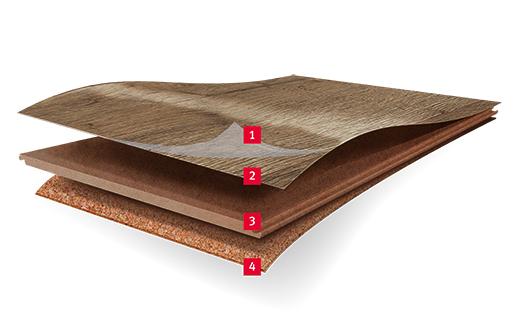 Напольные покрытия Design изготовлены из натуральной древесины и трех супер слоев