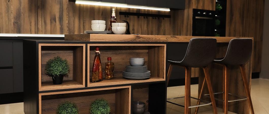 Н1400 ST36 Древесина Аттик использован и на фасадах и в корпусе мебели.