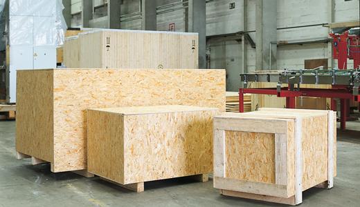 Упаковка, выполненная из древесных материалов