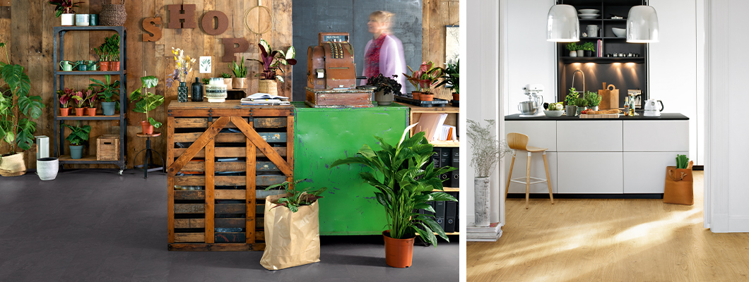 Ideális megoldás nyilvános és magáncélú felhasználásra: GreenTec Design padlók   Dekor: EPD045