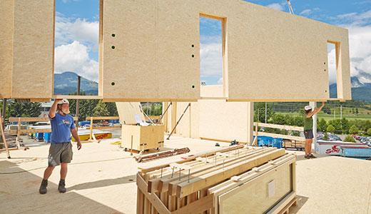 Варианты применения в деревянном домостроении