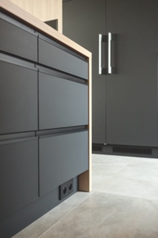 PerfectSense Matt Black (U999 PM) elevates cabinetry finishes for a sleek, sophisticated look.